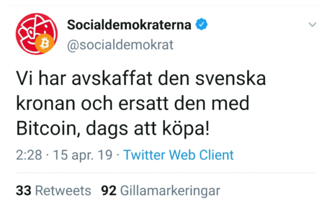 tweet governo svezia